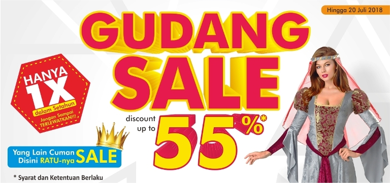 GUDANG SALE disc up to 55% (Yang lain cuma Sale, d